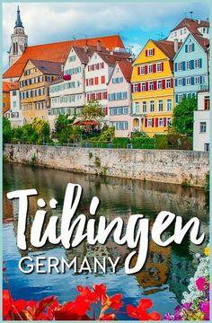 visiting the beautiful university city of Tuebingen, Germany in Baden-Wuerttemberg