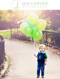 Balloons bigger than he: little boy blue. child photo session  cute!