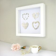 This Personalised Four Wedding Hearts Picture design makes a perfect gift to celebrate the special couples's Wedding Day. £70.00