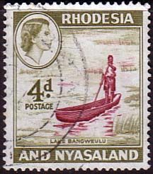 Postage Stamps Rhodesia and Nyasaland 1959 Queen Elizabeth II Lake Bangweulu SG 23 Fine Used Scott 163 For Sale Take A LOOK