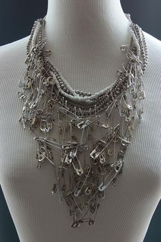 Awesome bobby pin bib necklace