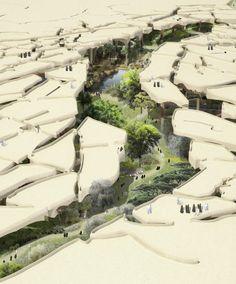 "Heatherwick Tapped to Design ""Sunken Oasis"" in Abu Dhabi"