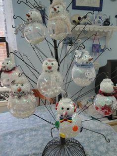 Christmas Snowmen Ornaments I made