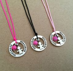 Breast Cancer Silver Plated Survivor Awareness by IzouBijoux