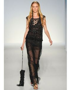 Alberta Ferretti Spring 2012 black boho dress