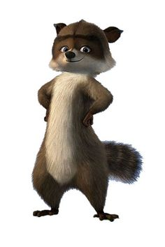 RJ, my favorite character from Over the Hedge Dreamworks Animation, Disney And Dreamworks, Funny Character, Character Design, Funny Memes About Girls, Bruce Willis, Cute Images, Bing Images, Forest Animals