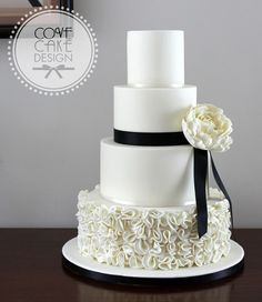 White wedding cake w