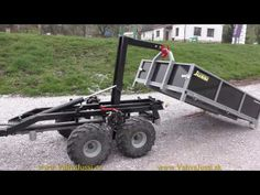 Self loading trailer Quad Trailer, Work Trailer, Trailer Plans, Trailer Build, Utility Trailer, Atv Trailers, Dump Trailers, Custom Trailers, Tractor Drawbar