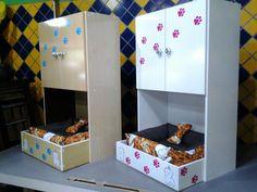 Cama com armário personalizada para seu animal de estimação