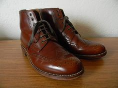 New to shop today: Grenson 'Sharp' calf skin brogue boot (made in England).