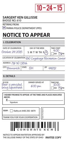 Cute idea for jr police when they arrive to write random tickets to cute idea for jr police when they arrive to write random tickets to adults for various crimes jameson birthday party pinterest community helpers stopboris Image collections