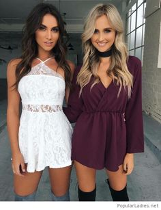 short-white-lace-dress-and-purple-dress