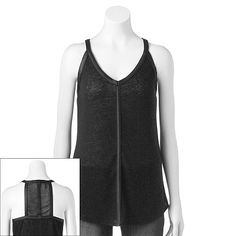 588f6c12dbfbe6 Rock   Republic® Racerback Linen-Blend Tank - Women s