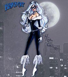 #Marvel Divas by Hayden Williams : The Black Cat