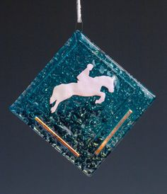 Suncatcher-Jumping Horse-Blue/Turquoise; Aqua, Dk Turquoise, Orange, Red, Purple, Yellow, Green also available