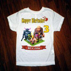 Choque de camisa de clanes cumpleaños por printfultees en Etsy
