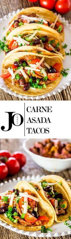 Carne Asada Tacos - perfectly marinated flank steak, grilled to perfection, then served in tacos with your favorite toppings! Restaurant quality in the comfort of your own home.