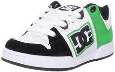 DC Kids Turbo 2 Skate Shoe (Little Kid/Big Kid),Black/White/Emerald,4 « Shoe Adds for your Closet