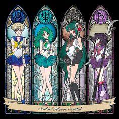 Anime: Sailor Moon Personagens: Sailor Urano, Sailor Neptun, Sailor Plut and Sailor Saturn. Sailor Moon Manga, Sailor Neptune, Sailor Uranus, Sailor Moon Fan Art, Sailor Moon Character, Sailor Mars, Sailor Moon Crystal, Cristal Sailor Moon, Sailor Scouts