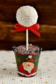 Ideas for Christmas party. Christmas Cake Pops, Christmas Sweets, Christmas Goodies, Christmas 2019, Christmas Ideas, Cakepops, Apple Centerpieces, Fancy Desserts, Cute Food
