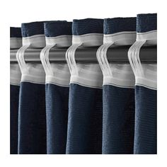 BLEKVIVA Curtains with tie-backs, 1 pair  - IKEA