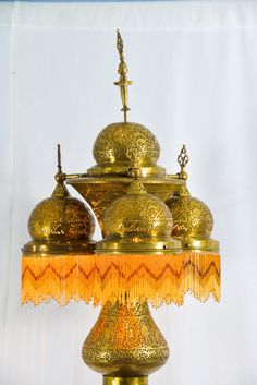 Moroccan Pierced Brass Floor Lamp | From a unique collection of antique and modern metalwork at http://www.1stdibs.com/furniture/asian-art-furniture/metalwork/