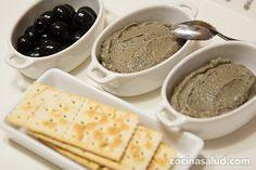 #RECETAS_en_ESPAÑOL / Paté de aceitunas negras - Recetas de cocina y consejos de salud http://www.cocinasalud.com/pate-de-aceitunas-negras/