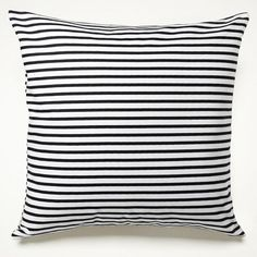 19 Seaworthy Ideas For Adding Nautical Style to Your Home: Go for classic sailor stripes with this Sailor Charcoal Stripe Pillow ($56).