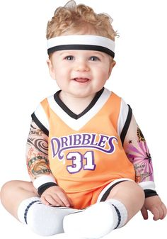 Buy costumes online like the Double Dribble Infant / Toddler Basketball Costume from Australia's leading costume shop. Cute Baby Halloween Costumes, Halloween Bebes, Baby Costumes For Boys, Toddler Costumes, Halloween Fancy Dress, Cool Costumes, Costume Ideas, Sports Costumes, Family Halloween