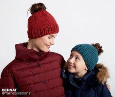 Family Fun Messy Bun Knit Hats