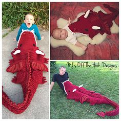 Bulky & Quick Dragon Blanket pattern by MJ's Off The Hook Designs
