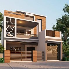 Ideas For Exterior House Design Modern Facades Arquitetura Bungalow Haus Design, Duplex House Design, House Front Design, Small House Design, Modern House Design, Home Modern, Modern Tiny House, Architectural Design House Plans, Architecture Design
