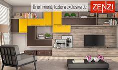 Con la textura Drummond mas combinaciones con amarillo y café, se logra un contraste y equilibrio ideal en este espacio. #Textura #Decoración