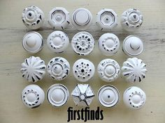 20 Medium Misfit Knobs Kitchen Cabinet Pulls Shabby by Firstfinds, $120.00