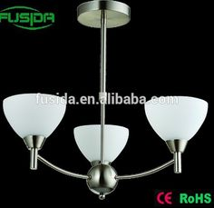 New Factory-outlet modern metal led glass crystal chandelier light E27