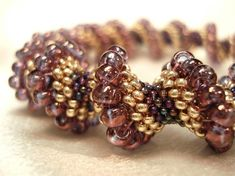 Ooh, I've Got Something to Show You!: Regal Purple Cellini Spiral Seedbead Bracelet