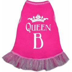 Queen B Dog Dress $30.00  #FabPuppy #DogDress #Pink