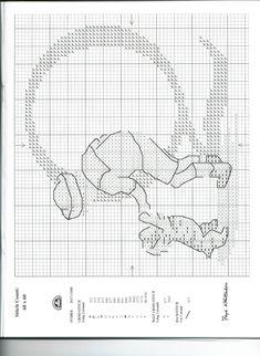 Schema punto croce Alfabeto Bimbi Q