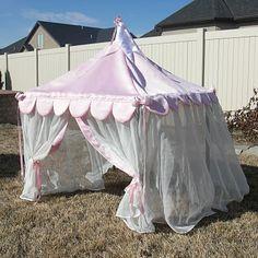 Card table tent tutorial.   Princess or circus...