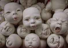 Johnson Tsang is a master of the ceramic art. He creates figures in different situations and showing different emotions. Some ceramic figures are with babies. Ceramic Figures, Ceramic Artists, Johnson Tsang, Bb Reborn, Chubby Babies, Art Sculpture, Clay Sculptures, Baby Head, Weird And Wonderful