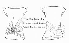well-suited: Pattern Puzzle - Hip Twist Top