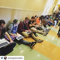 """#Repost @orangeismedia   The Line for """"Life after Fullsail"""" ... Makes sure you check in an hour before the panel starts! @fullsail @wearemcbs #FullsailHof #WeAreMCBS #MCBSHOF7"""