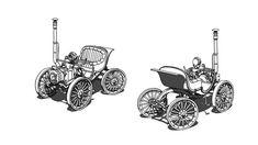 Steam cars and motorbikes, Alain Jezegou on ArtStation at https://www.artstation.com/artwork/OK0mb