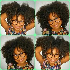 so cute little black girl !! Her hair <3