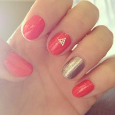 Ciate triangle with silver accent nail