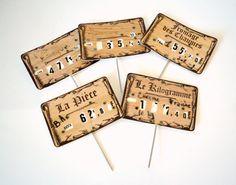 lot de 5 étiquettes de prix  affichettes  par atelierdelachoisille