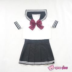 Daily Cosplay [Sailor Moon] Sailor Pluto Setsuna Meiou Sailor Seifuku Black Uniform Top/Skirt/Bow SP151873/SP151874
