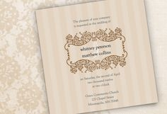Lovely Lavendar Wedding Invitation personalized in cocoa, charcoal and black. {So different from the original! LOVE it!}