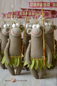 Купить ОБЕЗЬЯНКИ 2016 - коричневый, обезьянка, обезьяна, обезьянка в подарок, обезьянки, обезьяны