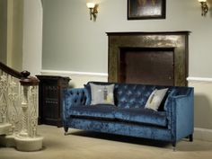 Pavilion sofa in Blue from Delcor